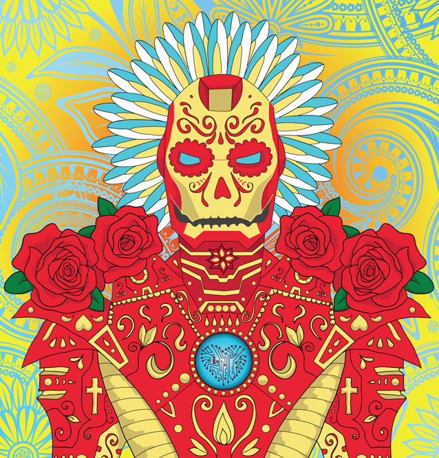 Day of the Dead Themed Vector Art
